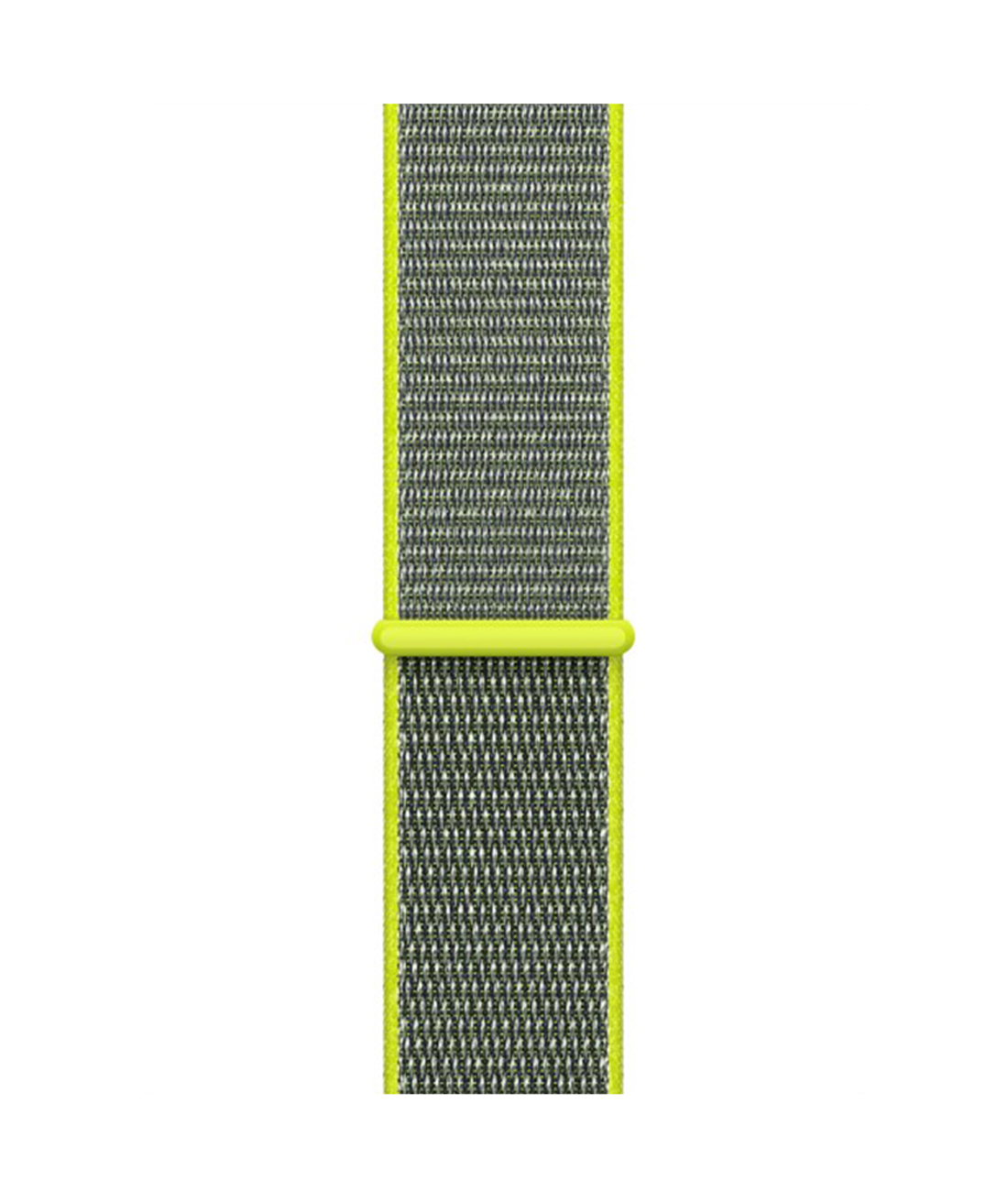 Ebony and Lime - Woven Nylon Apple Watch Band (42 / 44 MM)