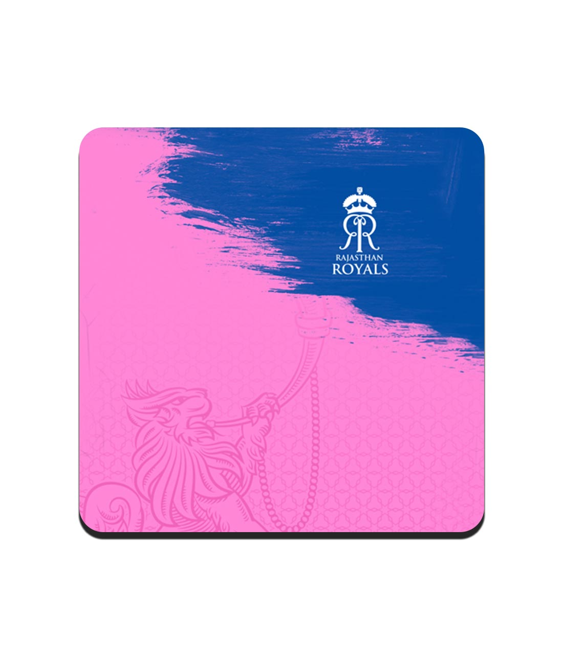 Rajasthan Royals Crest Pink - 10 X 10 (cm) Coasters