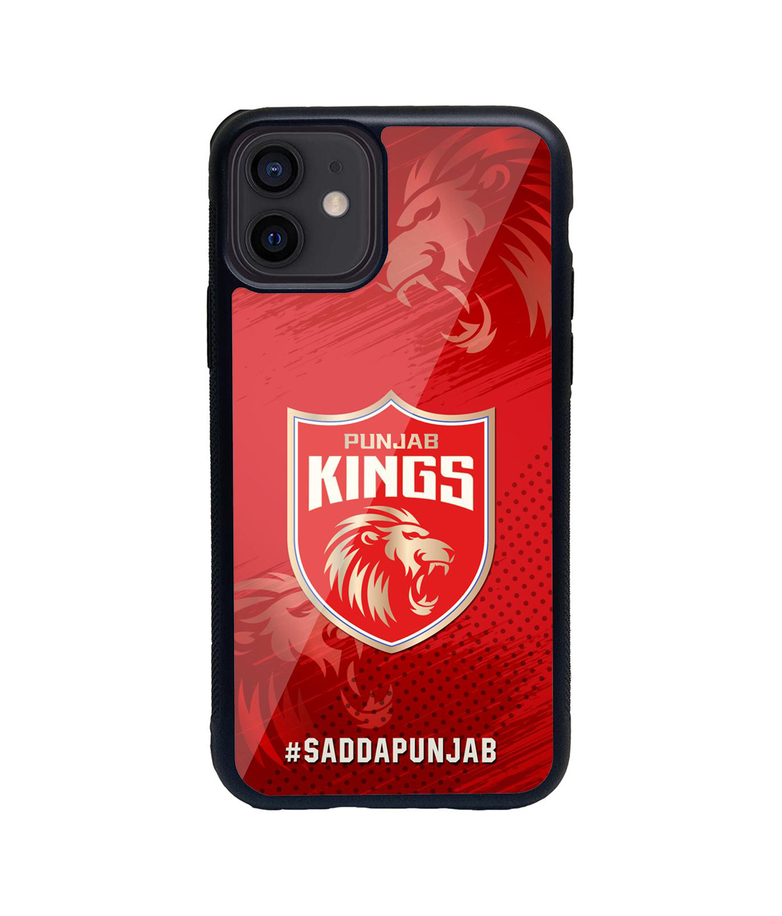 Punjab Kings Crest - Glass Case for iPhone 12