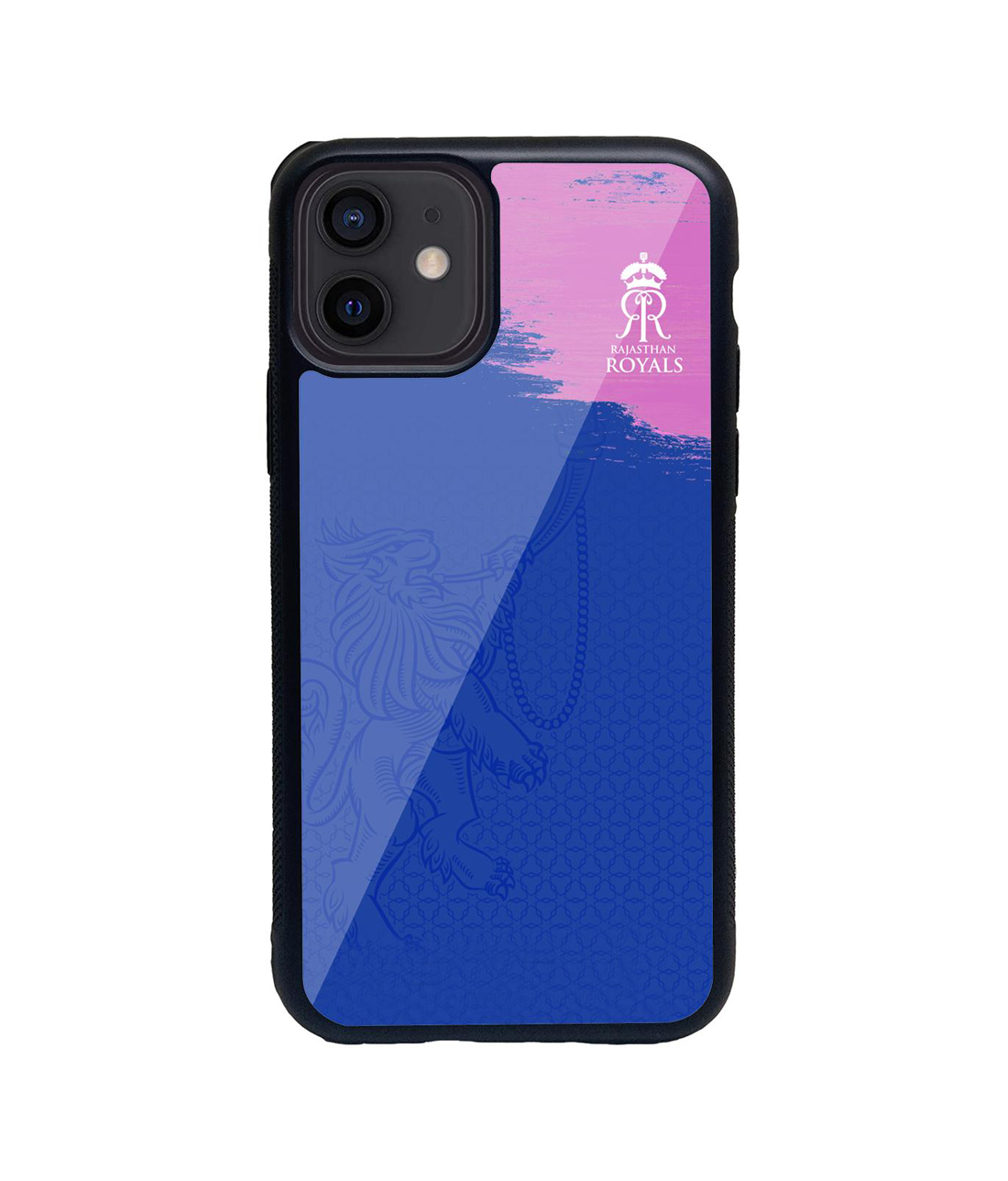 Rajasthan Royals Crest Blue - Glass Case for iPhone 12