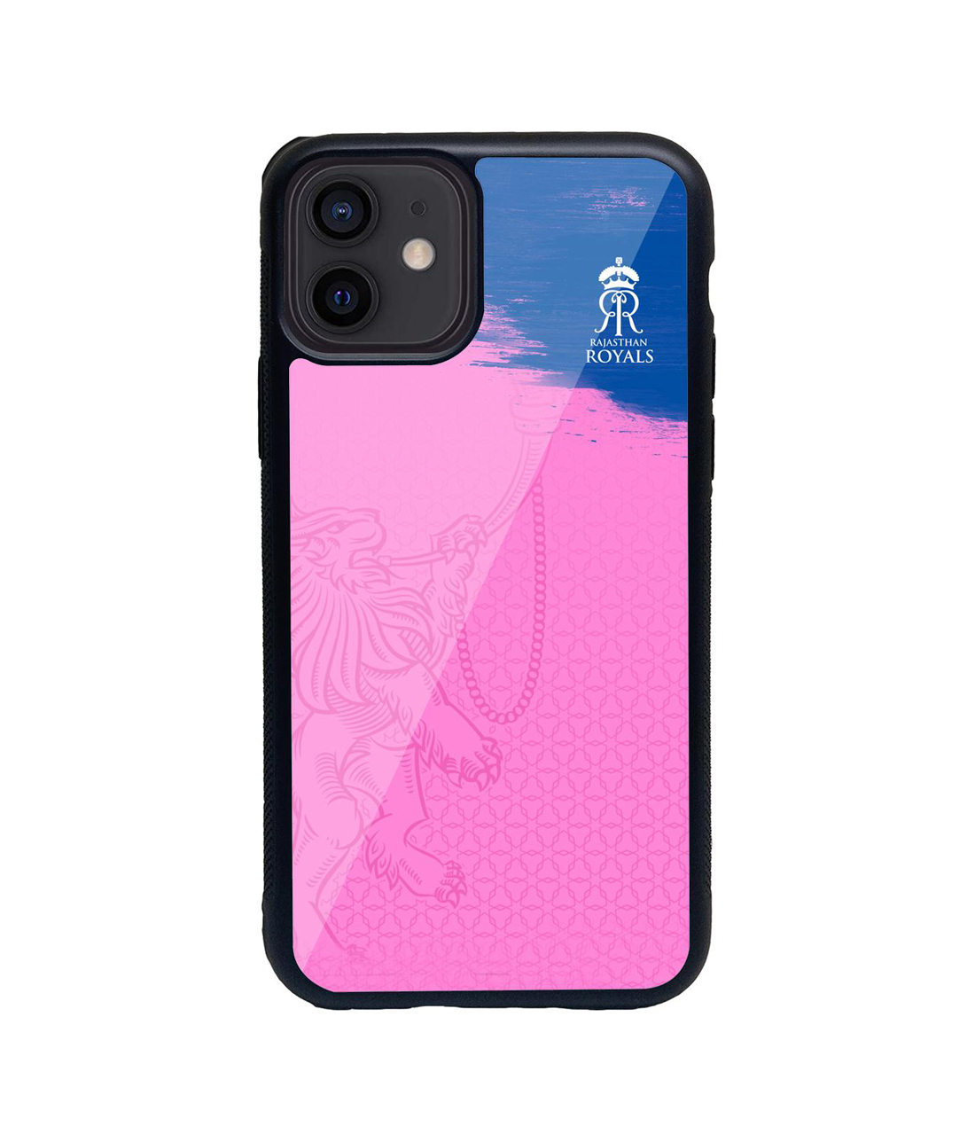 Rajasthan Royals Crest Pink - Glass Case for iPhone 12