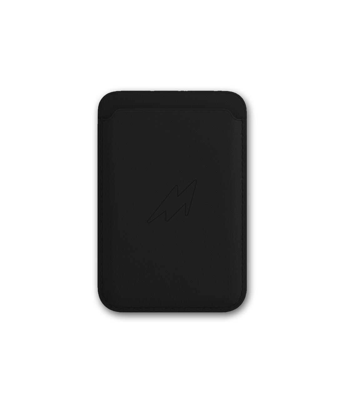 Leather Case Black - Magnetic Card Case