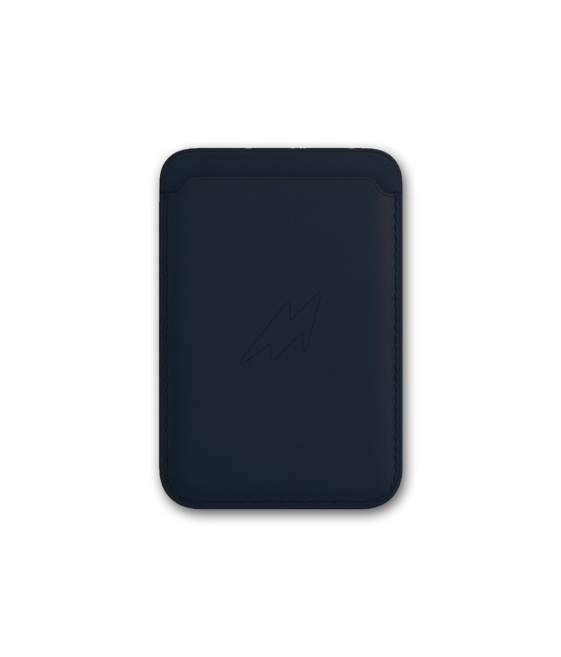 Leather Case Blue - Magnetic Card Case