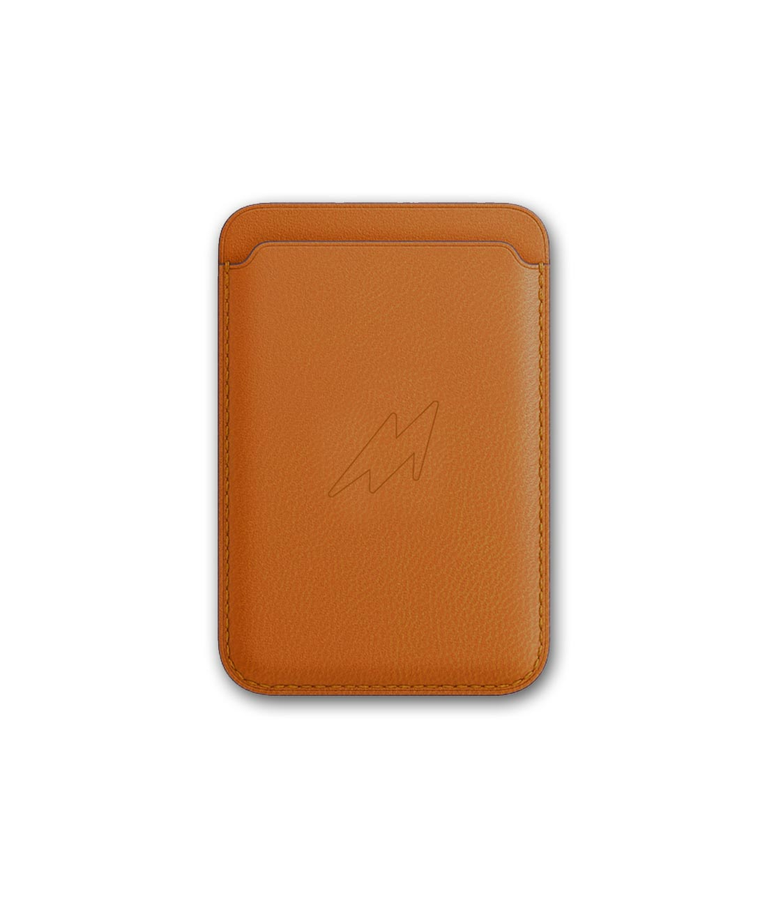 Leather Case Orange - Magnetic Card Case