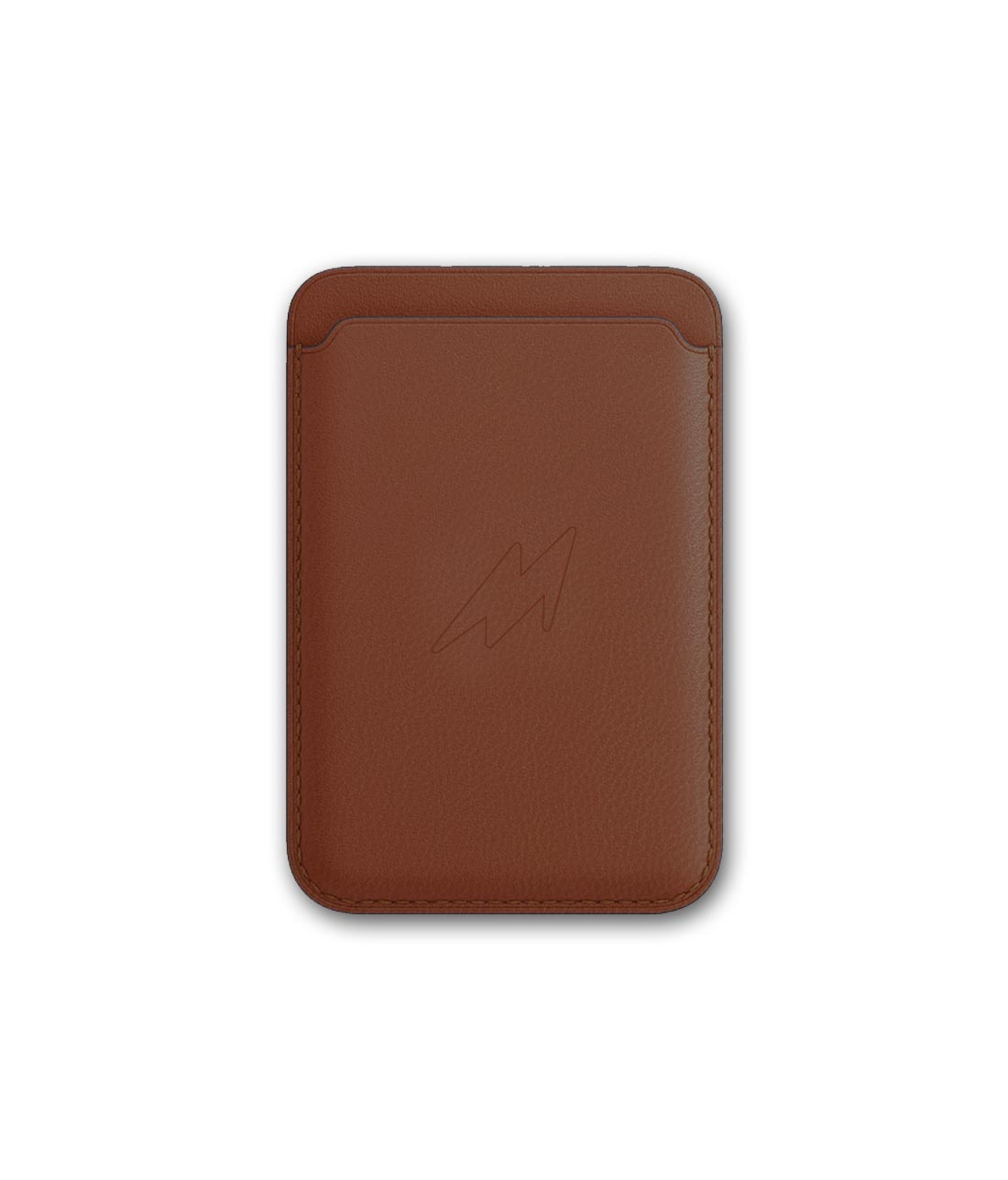 Leather Case Tan Brown - Magnetic Card Case