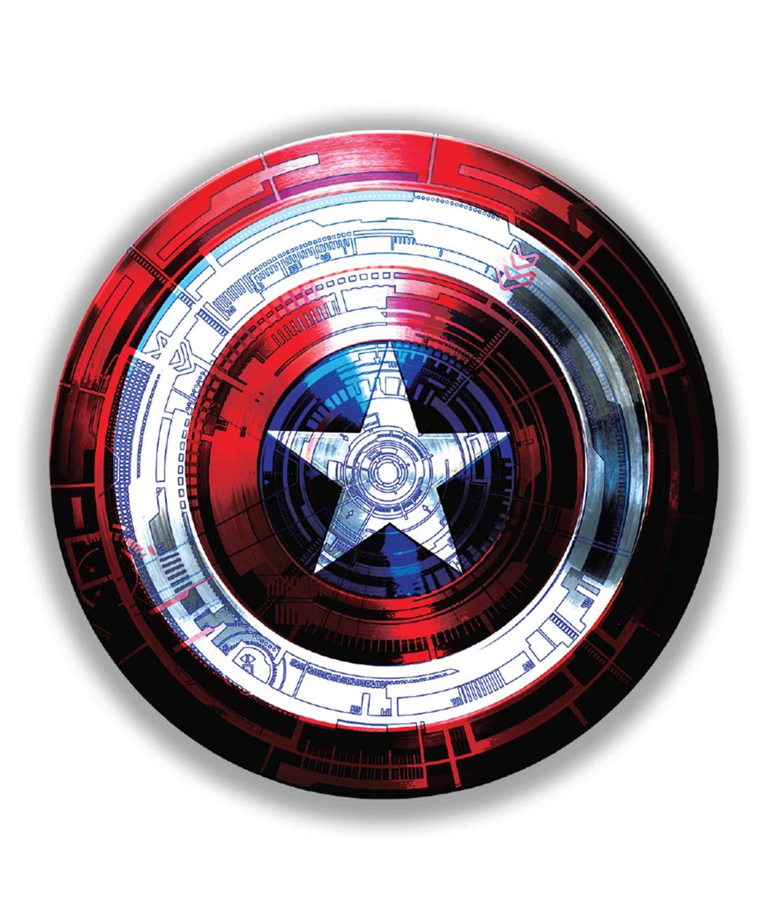Captains Shield Decoded - Stickon Small