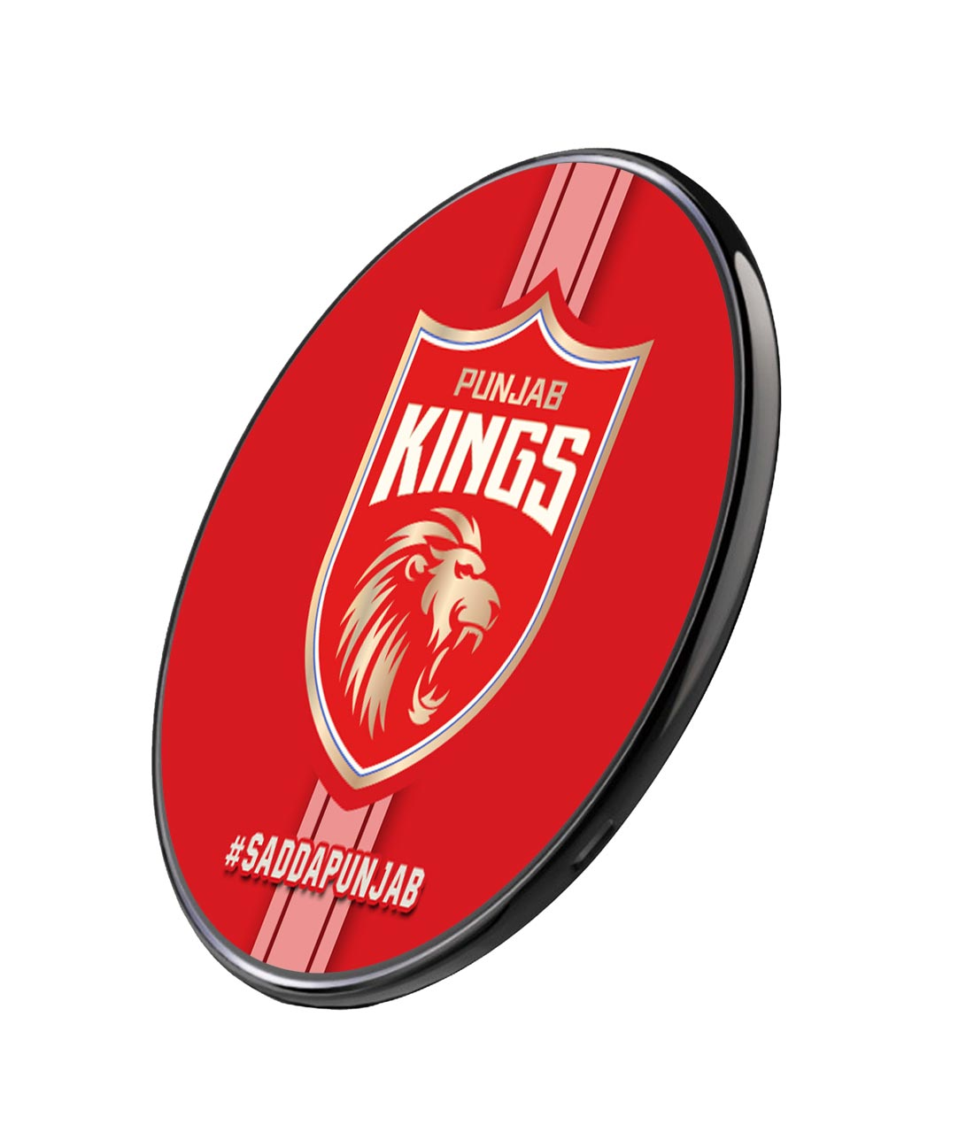 Punjab Kings Stripes - Qi Compatible Pro Wireless Charger