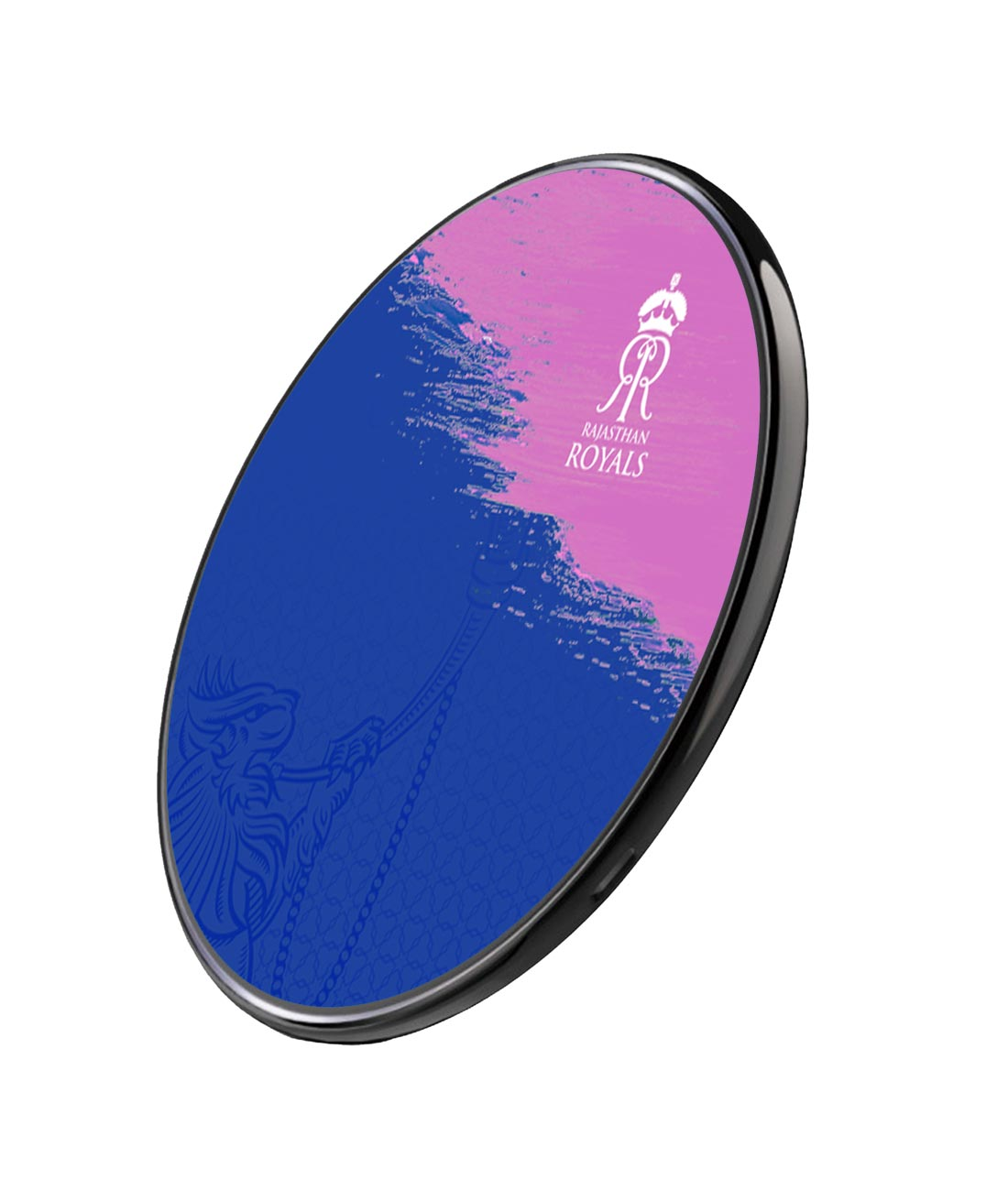 Rajasthan Royals Crest Blue - Qi Compatible Pro Wireless Charger