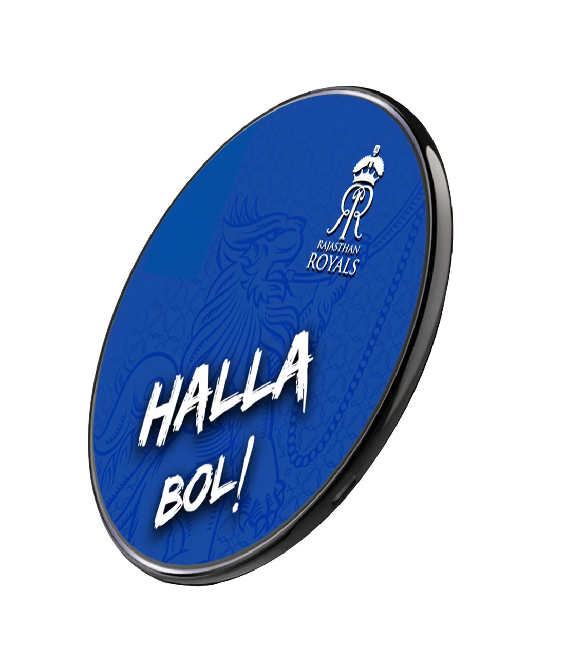 Rajasthan Royals Halla Bol - Qi Compatible Pro Wireless Charger
